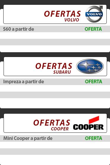 Catálogo Pneus Volvo, Subaru e Cooper